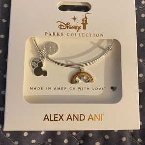 Alex and Ani pride rainbow 🌈 bracelet Disney NWT